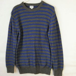 Old Navy Reverse Striped Crew Neck Sweater Size L